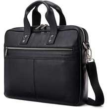 Samsonite Classic Leather Slim Brief Black One Size
