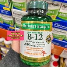 nature's bounty Viên Uống Bổ Sung Vitamin B12 Hỗ Trợ Trao Đổi Chất Và Hệ Thần Kinh 2500Mcg
