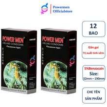 POWER MEN [Bao Cao Su Powermen] Combo 02 Hộp 24 Bao Cao Su Siêu Mỏng Siêu Kéo Dài Thời Gian Cá Ngựa Longshock
