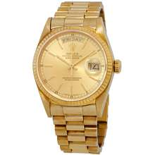 Rolex Pre owned Day date 18k Gold Presidential 18038 Champagne Watch