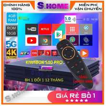 KIWIBOX Android S10 Pro Có Đk Giọng Nói G10S Tv Box - Ram 4Gb Rom 16Gb, Android 10, Cấu Hình Cực Mạnh- Hàng Chính Hãng