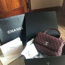 Chanel Thanh Lý Túi Coco Auth Authentic (Đỏ trầm, M)