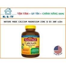 Nature Made Viên Uống Bổ Sung Canxi Cho Bà Bầu Calcium Magnesium Zinc D3 300 Viên