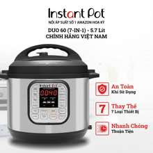 Instant Pot Nồi Áp Suất Đa Năng Duo 5,7L, 7-In1, Chính Hãng Việt Nam 220V