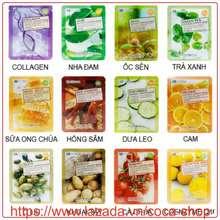 FoodaHolic Mix Ngẫu nhiên 10 miếng mặt nạ dưỡng da 3D Natural Essence Mask Hàn Quốc (10x23ml)