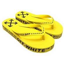 Off-White Dép Xỏ Ngón Logo Embossed Flip Flops Màu Vàng