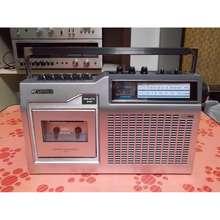 SANSUI Đài Radio Cassette S Scr-3 Màu Bạc Sang Trọng Hiện Đại