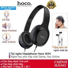 hoco. Tai Nghe Chụp Tai Hoco W24 Headphone Nghe Hay, Tặng Kèm Tai Nghe Nhét Tai 3.5 Dây Dài 1.2M - Chính Hãng