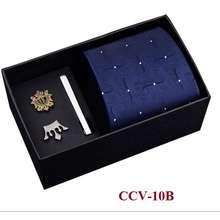 Bộ Cà Vạt 8Cm Làm Quà Tặng Cao Cấp, Kẹp Cà Vạt, Ghim Cài Áo Thời Trang Nam Ccv-16, Ccv-31 - Adamzone
