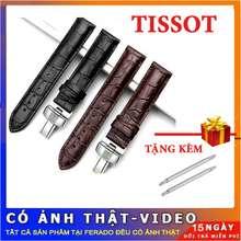 Tissot Dây đồng hồ da vân cá sấu cho nam size 22mm siêu đẹp