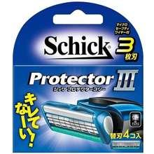Schick Bộ 4 lưỡi cạo râu Protector III - Nhật bản