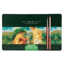 MARCO Bút Chì Màu Nước Renoir 36 Màu Hộp Thiếc