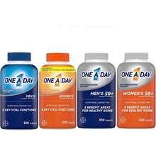 Bayer [Date 2023]Viên Uống One A Day Men 50+ Bổ Sung Multivitamin Và Khoáng Chất Cho Nam Giới Trên 50, Chai 300 Viên