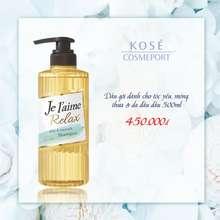 Kosé Dầu Gội Cho Tóc Dầu, Mỏng, Yếu Cosmeport Je L'Aime Relax Shampoo Bounce & Airy (500Ml)