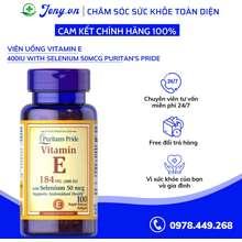 Puritan's Pride Viên Uống Vitamin E 400Iu With Selenium 50Mcg