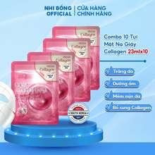 3W Clinic Mặt Nạ Collagen - Mặt Nạ Gấy Dưỡng Da Chiết Xuất Từ Collagen Hàn Quốc [Combo 10 Túi / Hàng Nhập Khẩu Hàn Quốc]
