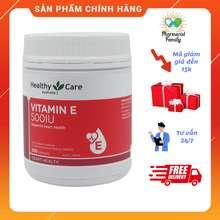 Healthy care Vitamin E [Úc] - Hộp 200 Viên 500Iu- Viên Uống Đẹp Da, Hỗ Trợ Sức Khỏe Tim Mạch