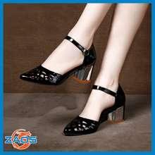 ROSATA Giày Cao Gót Nữ Đẹp Mũi Nhọn Cắt Lazer Za05