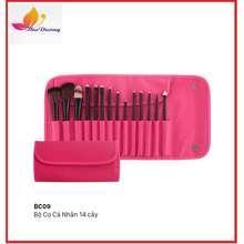 Vacosi Bộ Cọ Trang Điểm Da Hồng 14 Cây Makeup Pro Bc09