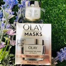Olay Mặt Nạ Ngủ Trắng Sáng Da Đêm Masks Brightening Over Night Gel Mask With Vitamin C 50Ml (Chuẩn Mỹ))