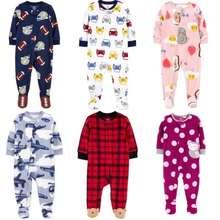 Carter's [Sleepsuit] Body Liền Chất Liệu Nỉ Bông Cho Bé Trai Bé Gái Từ Sơ Sinh Đến 24 Tháng